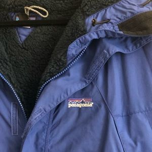 Men's 2xl xxl Patagonia fleece lined coat hooded